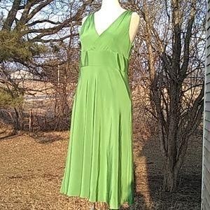 💚💚J.Crew Green Silk Dress size 12 Prom dress💚💚